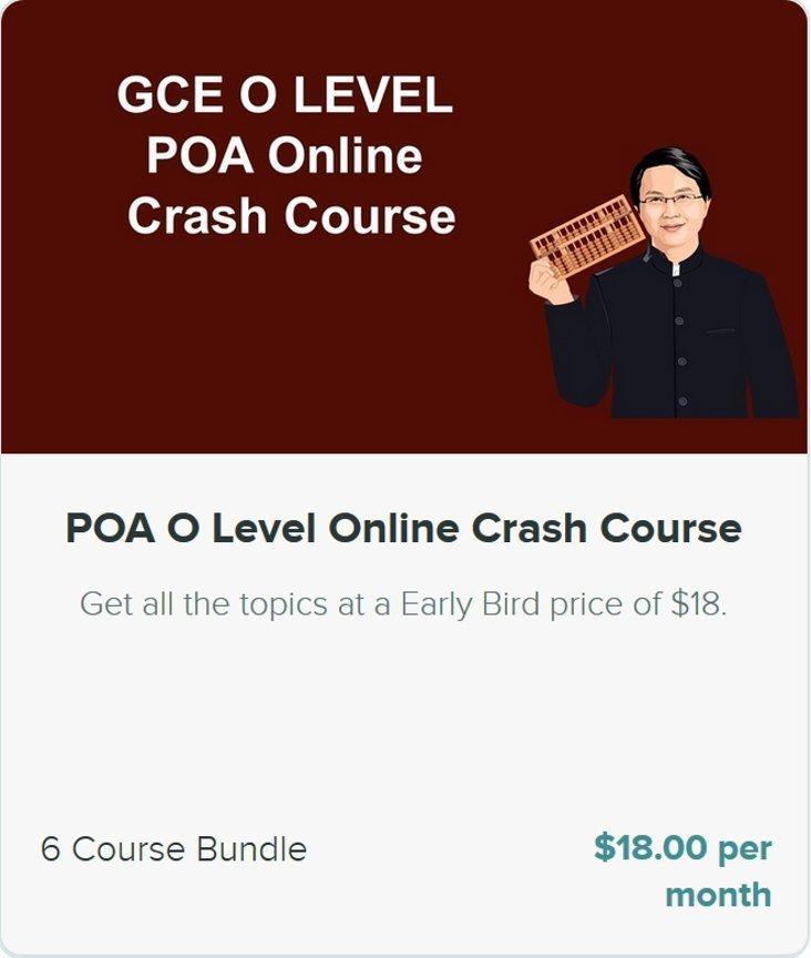 O Level POA Crash Course