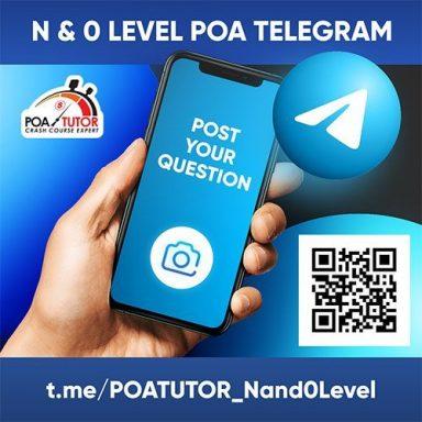 POA N & O Level Telegram Group